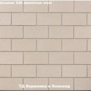 Плитка для гаража и дорожек Stroeher 238 aluminium matt